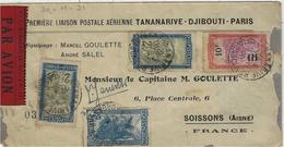02-07 Dec. 1931- Tananarive-Paris  Par Goulette,Salel Sur Farman190 . DEDICACE  Par Goulette - Covers & Documents