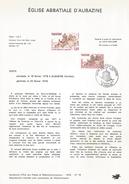 NOTICE PTT 1978 EGLISE ABBATIALE D'AUBAZINE CORREZE - Documents Of Postal Services