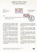 NOTICE PTT 1978 ABBAYE DU BEC-HELLOUIN  EURE - Documents Of Postal Services