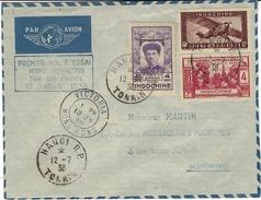 13-7-1938 - 1er Vol D´essai Hanoi-Hong-Kong Par AIR FRANCE  - - Covers & Documents