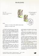 NOTICE PTT 1978 BALBUZARD - Documents Of Postal Services