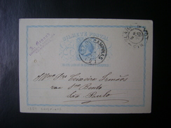 BRAZIL - POSTAL TICKET SENT FROM CAMPINAS TO SAO PAULO IN 1887 IN THE STATE - Brésil