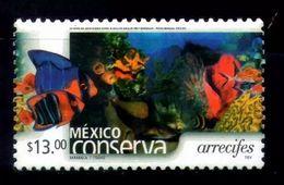 Conserva Sc 2470 $13.00 Reefs Type 3: Perf. 13 Clown Fish Coral Marine Life Anemona - Mexico