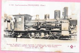 LES LOCOMOTIVES FRANCAISES - Machine N° 030-912 à Simple Expansion 2 Cylindres - VAN4 - - Trains