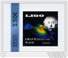 RARE!!! ESTONIA Estland 14.09.2015 LIGO Gravitational Wave Space My Stamp Meine Marke MNH - Estonia