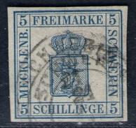 Schwerin 24/4 Auf 3 Shillinge Blau - Schwerin Nr. 3 - Signiert - Pracht - Mecklenburg-Schwerin