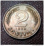 LATVIA  2 SANTIMI  COIN  1939 Y  - VF +++ - Lettland