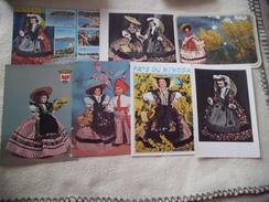LOT DE 7 CARTES POUPEES ...PROVENCE ..COTE D'AZUR ..NICE - Cartes Postales