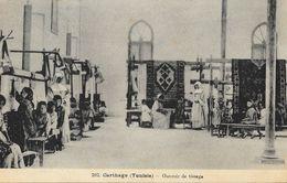 Carthage (Tunisie) - Ouvroir De Tissage En 1930 - Enfants Et Soeurs Missionnaires - Missions