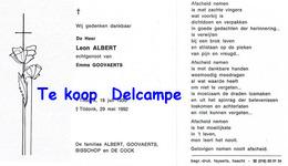 Bidprentje Albert Leon (x Emma Goovaerts ) Tildonk 1930-1992 - Religione & Esoterismo