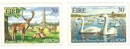 1999 - Irlanda 1154/55 Cigni - Adesivi
