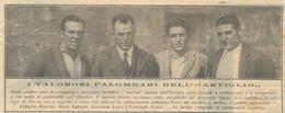 PALOMBARI DELL'ARTIGLIO RECUPERANO IL TESORO DEL EGYPT PRIMI ANNI 1900 FOTO RITAGLIATA DA GIORNALE - Vecchi Documenti
