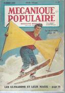 """MECANIQUE POPULAIRE   N°81  """" LE SKI A VOILE """"    -   FEVRIER  1953 - Basteln"""