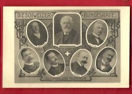 PRV-07 Bundesräte Conseillers Fédéraux Förrer Hoffmann Decoppet Motta Perrier Schulthess Muller. AK,Bern Nicht Gelaufen - BE Berne
