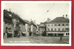 PRV-20  Bex La Grande Place, Confiserie, Lignes De Tramway. Cachet 1945 - VD Vaud