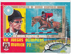 72090 Guinea Equatorial 1972 XX  Olimpiadi Monaco Munich H.G. WINKLER  ORO  Salto Ostacoli Ippica