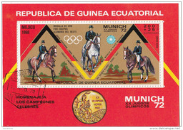 72102 Guinea Equatorial 1972 XX  Olimpiadi Monaco Munich Vincitori Medaglie Ippica