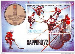 7220 Guinea Equatorial 1972 Olimpiadi Invernali SAPPORO Hockey Su Ghiaccio
