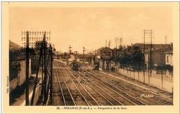 13 MIRAMAS Perspective De La Gare N'a Pas Circulé - Autres Communes