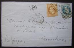 1868 Erquelines à Paris, Jolie Lettre ! - Marcophilie (Lettres)