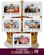GUINEA BISSAU 2016 ** 90 Years Queen Elisabeth II. Mandela Obama M/S - OFFICIAL ISSUE - A1706 - Royalties, Royals