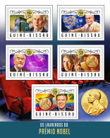 GUINEA BISSAU 2016 ** Nobel Prize Laureates Physics David J. Thouless M/S - IMPERFORATED - A1706