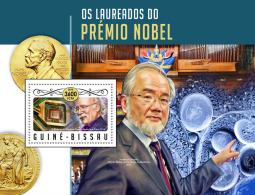 GUINEA BISSAU 2016 ** Nobel Prize Laureates Physics F. Duncan H. Haldane S /S - IMPERFORATED - A1706