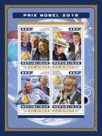 NIGER 2016 ** Physics Nobel Prize Duncan Haldane Thouless Kosterlitz M/S - IMPERFORATED - A1706