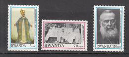1992 Rwanda Rwandaise  Cardinal Lavigerie Short Set Of 3 (Missing Only 15F)  MNH  Much Cheaper Than Buying Set!!. - 1990-99: Nuovi