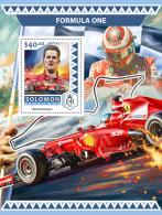SOLOMON ISLANDS 2016 ** Formula I Formel 1 Formule 1 Schumacher S/S - OFFICIAL ISSUE - A1706 - Cars