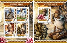 SOLOMON ISLANDS 2016 ** Mahatma Gandhi M/S+S/S - IMPERFORATED - A1706