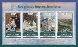 TOGO 2016 ** Impressionists Renoir Monet Manet Pissarro M/S - OFFICIAL ISSUE - A1706