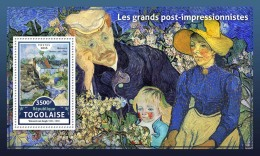 TOGO 2016 ** Post-Impressionists Vincent Van Gogh S/S - OFFICIAL ISSUE - A1706