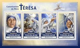 TOGO 2016 ** Canonisation Mother Teresa Heiligsprechnung Mutter Teresa M/S - OFFICIAL ISSUE - A1706