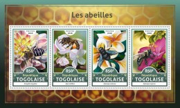TOGO 2016 ** Bees Bienen Abeilles M/S - IMPERFORATED - A1706 - Abeilles