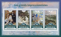 TOGO 2016 ** Impressionists Renoir Monet Manet Pissarro M/S - IMPERFORATED - A1706