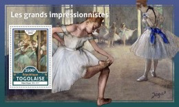 TOGO 2016 ** Impressionists Edgar Degas S/S - IMPERFORATED - A1706