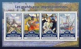 TOGO 2016 ** Post-Impressionists Cezanne Gauguin Toulouse-Lautrec Signac M/S - IMPERFORATED - A1706