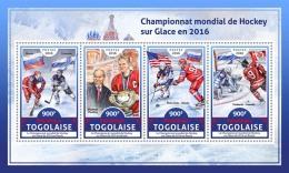 TOGO 2016 ** Ice Hockey Championship 2016 Eishockey Hockey Sur Glace M/S - IMPERFORATED - A1706