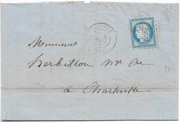LIFFRE Ille Et Vilaine CAD 9.3.1875 + GC 2039 Sur 25c Céres Pli Ets BRISOU Usine De Sérigné   ...G - Poststempel (Briefe)