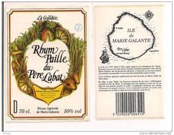 """Etiquette  RHUM  """" Paille """" Du Père Labat - Rhum Agricole  De Marie  Galante - La Guildive - 50°  70cl - GUADELOUPE - - Rhum"""