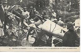 88 - Vosges - Granges Sur Vologue - Avion Allemand Abattu Par La Mitrailleuse En Combat Aérien - Granges Sur Vologne