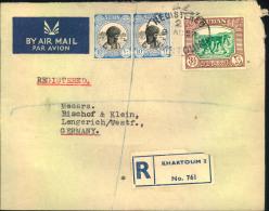 1952, Registered Letter From KHARTOUM To Lengerich, Germany. - Soudan (1954-...)