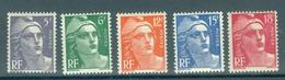 FRANCE - Yv. Nr 883/887 - Marianne De Gandon - MNH** - Cote 30,00 €