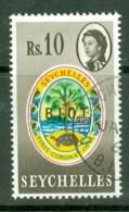 British Indian Territory (BIOT): 1968   QE II - Pictorial 'B.I.O.T.' OVPT   SG15    10R    Used - British Indian Ocean Territory (BIOT)