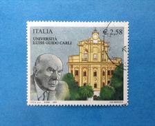 2003 ITALIA FRANCOBOLLO USATO STAMP USED UNIVERSITA' LUISS GUIDO CARLI - 6. 1946-.. Repubblica