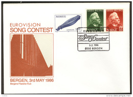 NORWAY, «Eurovision Song Contest» In Bergen 1986. Chacheted Cover With Special Franking ! - Musik