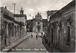 Lecce - Zollino - Via Vittorio Emanuele E Chiesa Madre - Fg Nv - Lecce