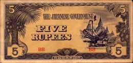 BI RMANIE MYANMAR 5 ROUPIES De 1942-44nd  Pick 15b  XF/SUP - Myanmar