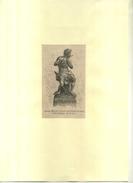 GROUPE OFFERT PAR LA SOCIETE DES CHOEURS DE GAND . GRAVURE SUR BOIS DU XIXe S. DECOUPEE ET COLLEE SUR PAPIER . - Sculptures